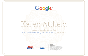 Karen Attfield Google Digital Garage Certificate