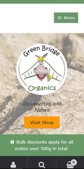 Green Bridge Organic: Mobile