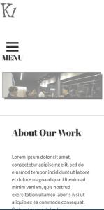 K1 WordPress Theme Mobile Screenshot
