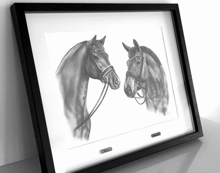 Pferdecollage Zeichnung