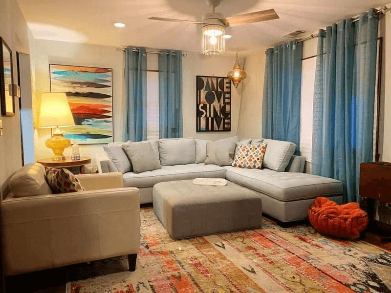 staging home cozy living room