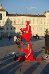 Turin street performers