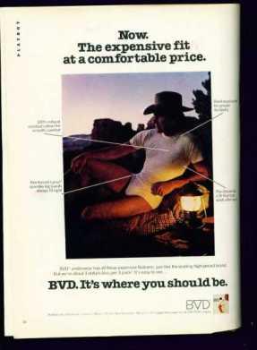 BVD cowboy vintage 1980s ad4