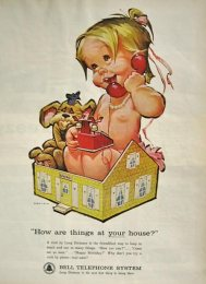Vintage Bell telephone naked baby ad3