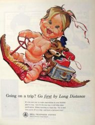 Vintage Bell telephone naked baby ad5