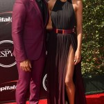 Seattle Seahawks Quaterback Russell Wilson and Ciara at the 2015 ESPYs Awards