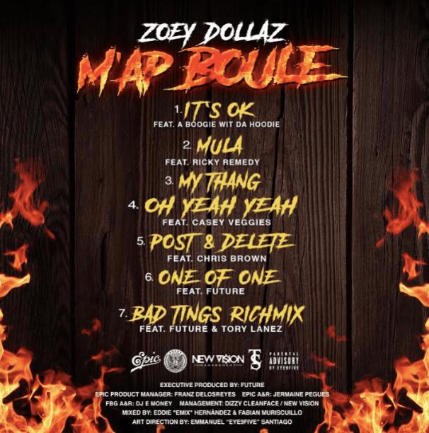 M'ap Boule - Zoey Dollaz - Tracklist