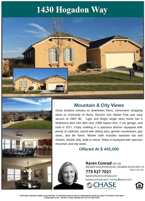 Reno Homes For Sale karen Conrad
