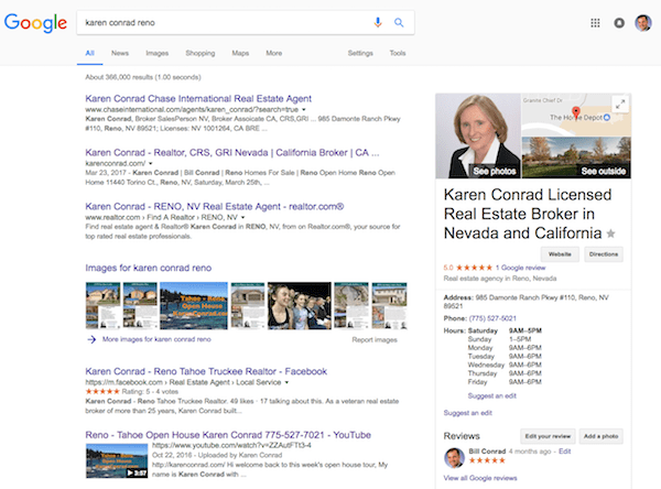 Karen Conrad Google Search Results