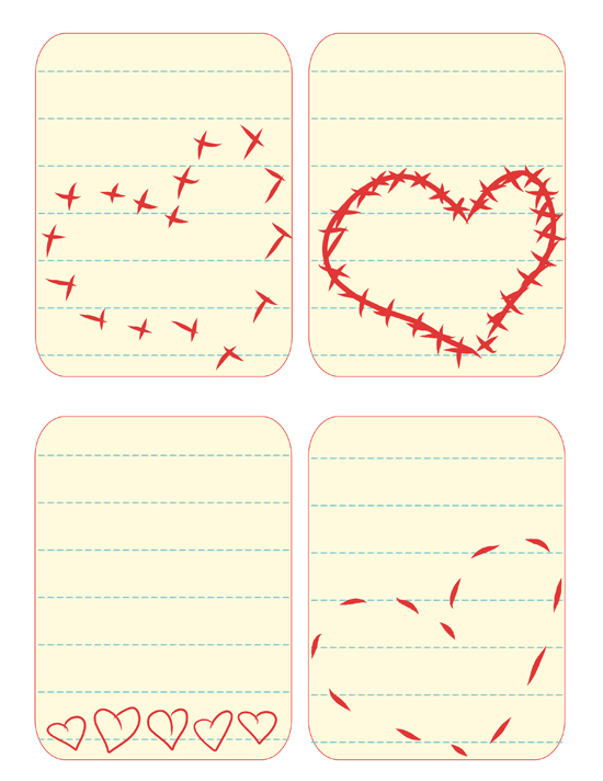 graphic about Free Printable Journal Cards named No cost Printable Center Magazine Playing cards - Karen Cookie Jar