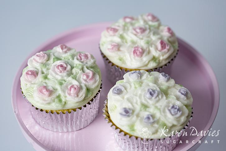 Cupcake Top - Piped Rose