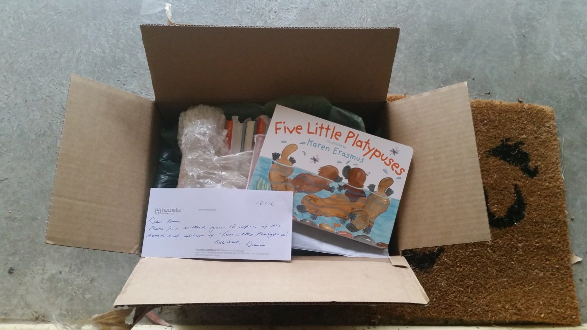 Five Little Platypuses. Board book for young children.