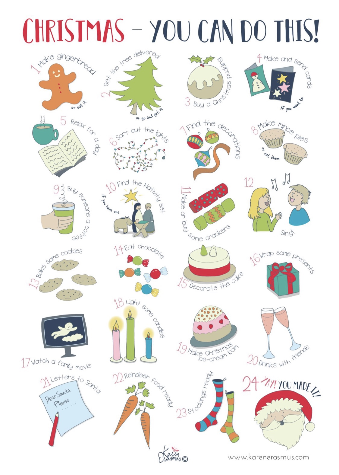 A fun illustrated advent calendar