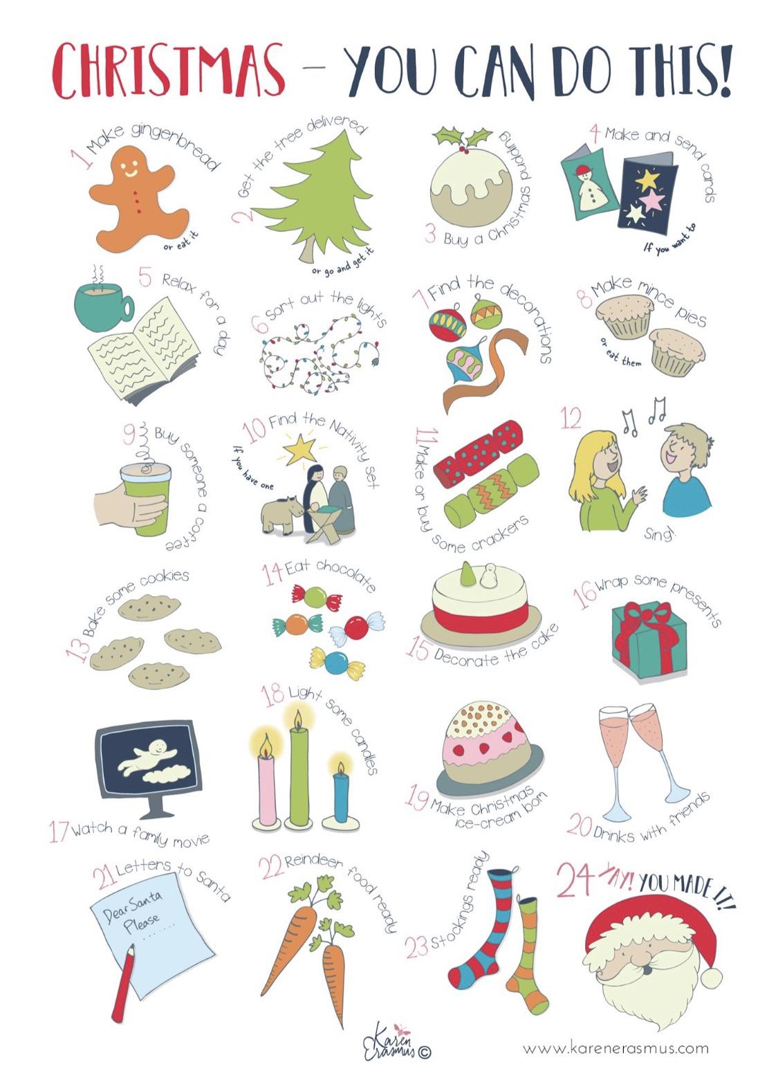 A fun illustrated advent calendar