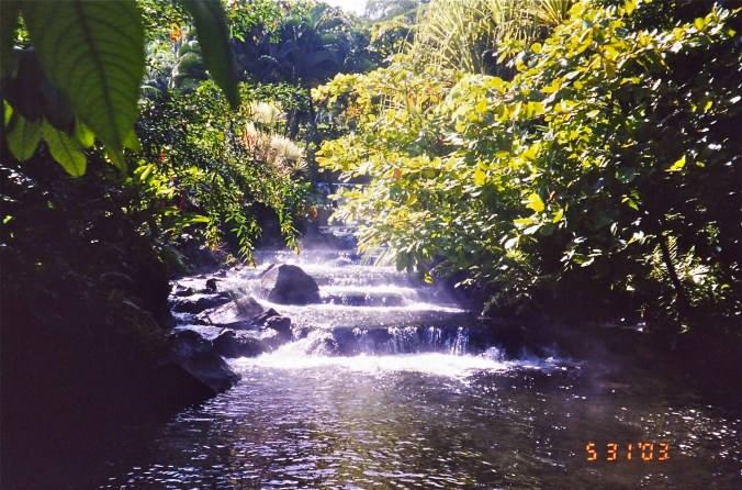 Tabacon Spa lodge in La Fortuna - river
