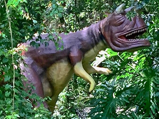 Dinosaur that looks like Frank Sinatra