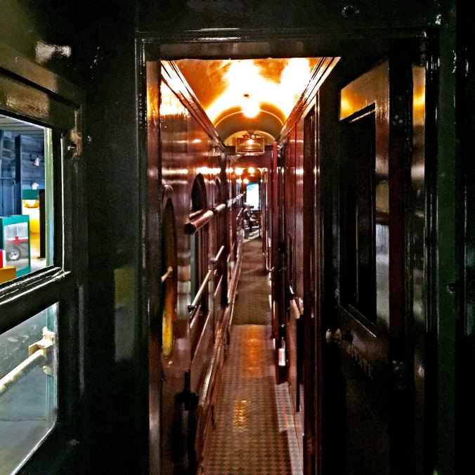 Looking down the hallway in John and Mable Ringlings Private Train Cars
