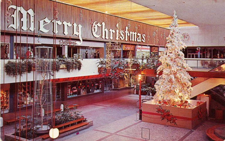 Southdale decorated for Christmas