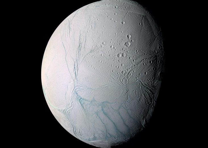 Enceladus image from Cassini mission