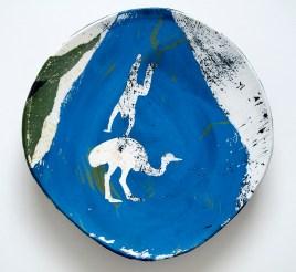"Somersault Plate, 10"" diameter"