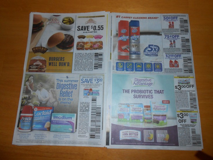 What is a coupon? These manufacturer's coupons need to be cut out of traditional coupon flyers before being redeemed at the store.