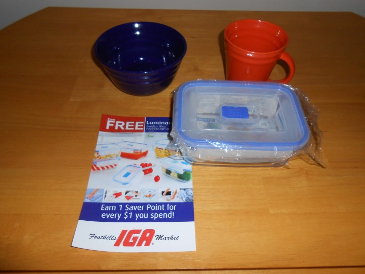 Free dishes were available as a special promotion at IGA.