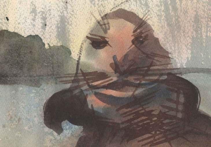 Old Seal | Watercolour - Acid Free Paper | Dimensions: 1000cm x 600cm