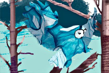 Plastic Owl - Arc Poetry Magazine - Illustration by Karen Hibbard