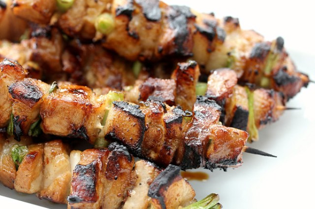 Thai-Flavored Pork Belly Skewers