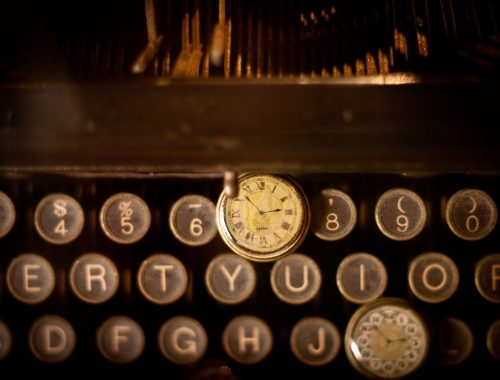 Typewriter Time by Cliff Johnson, Karen Hugg, www.karenhugg.com #antique #typewriter #writing