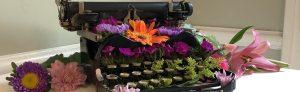 antique typewriter flowers