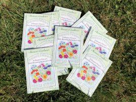 seed packets, Karen Hugg, www.karenhugg.com/news #seeds #bees #giveaway #TheForgettingFlower #books #novels #plants #gardening #flowers #wildflowers