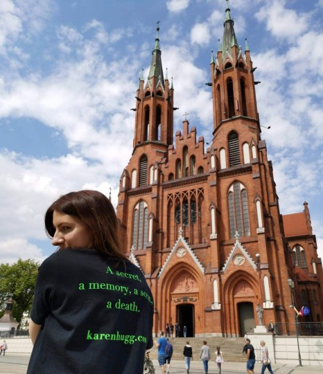 Cathedral of the Assumption of the Blessed Virgin Mary, Białystok, Poland, Where in the World Is The Forgetting Flower T-shirt? Poland, Karen Hugg, https://karenhugg.com/2019/06/13/t-shirt-poland/ #CathedraloftheAssumption #Bialystok #Poland #TheForgettingFlower #books #novels