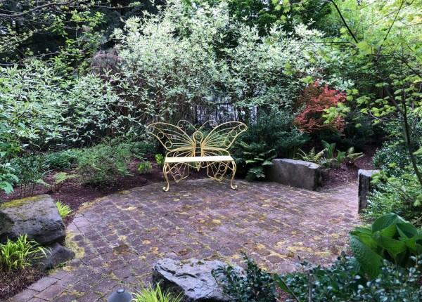 J.A. Jance Garden, Pond Author J.A. Jance Imagined a Colorful Epic Garden, Karen Hugg, https://karenhugg.com/2021/06/04/j-a-jance-garden/(opens in a new tab) #JAJance #garden #plants #gardening #Ovid #myth #thriller #author #books #poetry