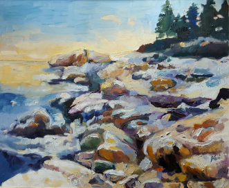 Lake Superior Shore, Karen Huss
