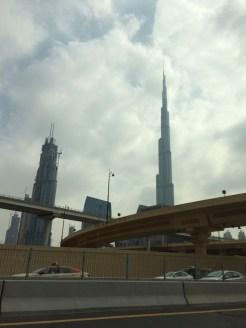 The Burj Khalifa, world's tallest building at 2,717'.
