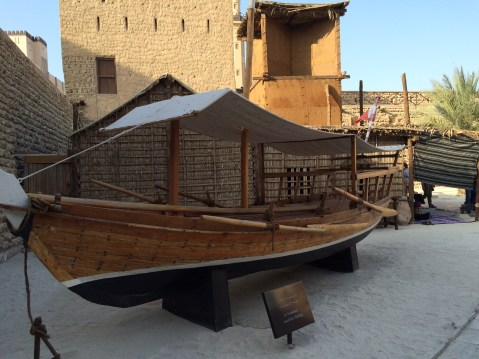 Museum example of ancient dhow.