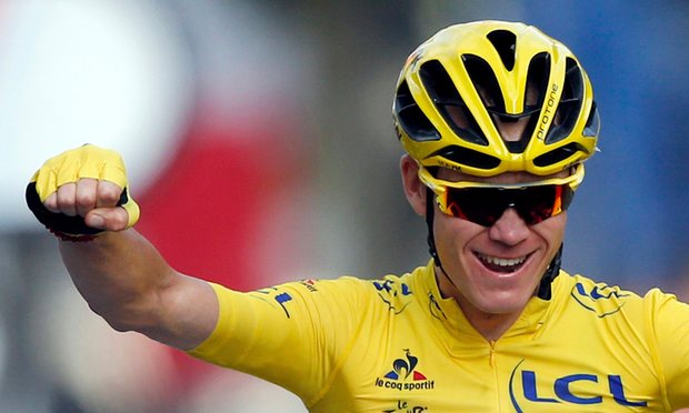 Christopher Froome, winner of the 2016 Tour de France. Photo courtesy of Jean-Paul Pelissier/Reuters