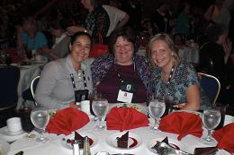 Yours truly, Kristie(J) and Barbara at the Keynote Luncheon 2