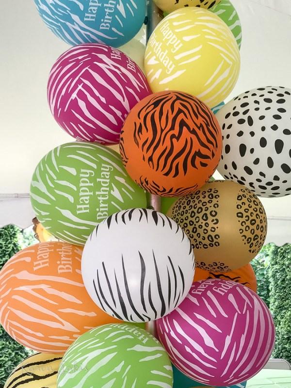 jungle theme balloons