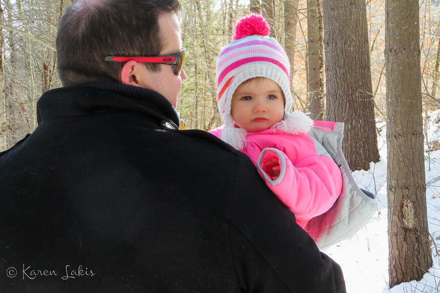 Ella in the snow