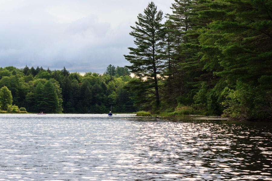 kayaking on Gale Meadow Pond