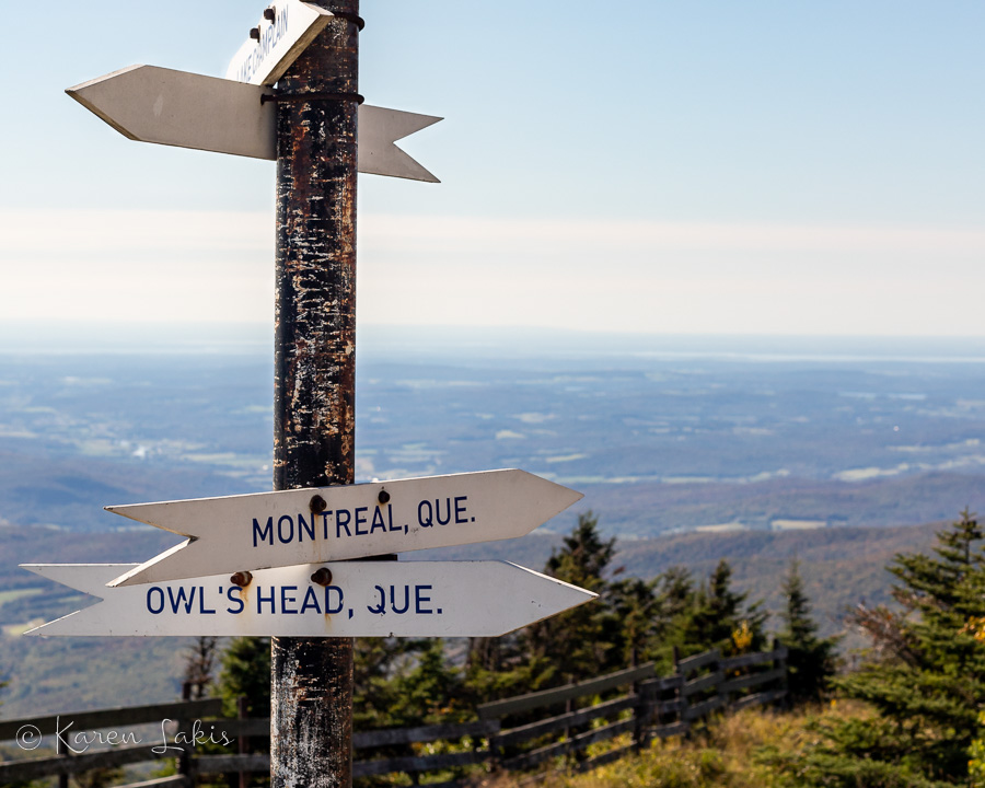sign at the top of Jay Peak