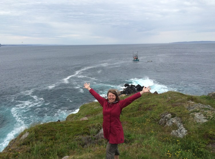 Me on a cliff in Newfoundland