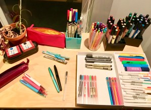 lots and lots of different pens