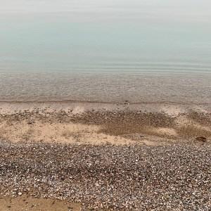 stones, beach, water, sky