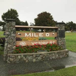 Mile 0 sign in Victoria, BC