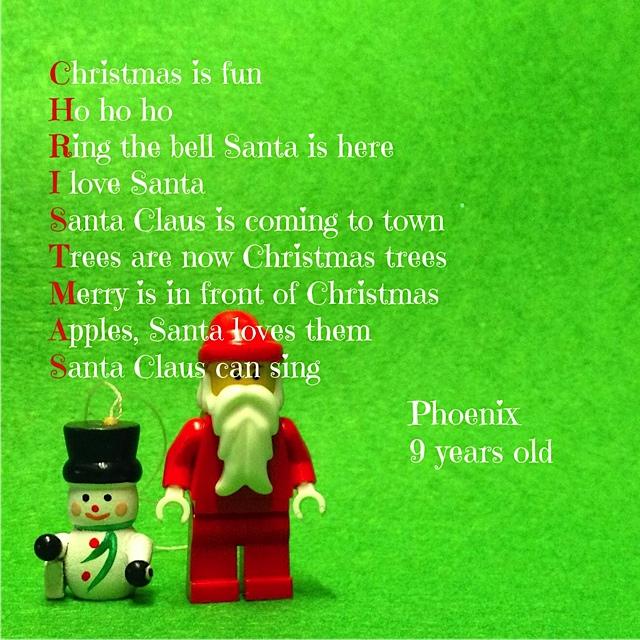 Santa Claus, Christmas And Acrostics