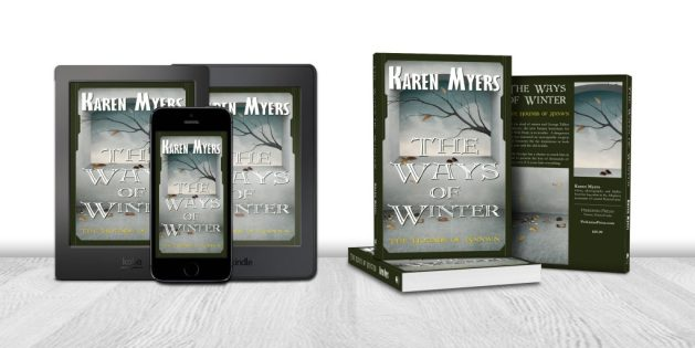 Display of available formats for The Ways of Winter, book 1 of The Hounds of Annwn. Written by Karen Myers. Published by Perkunas Press (PerkunasPress.com).