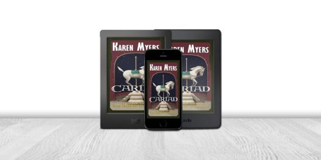 Display of available formats for Cariad, a short story from The Hounds of Annwn. Written by Karen Myers. Published by Perkunas Press (PerkunasPress.com).